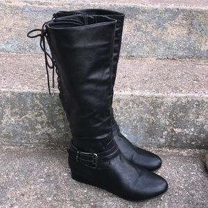 Too Spoof Boots with Lace up Back